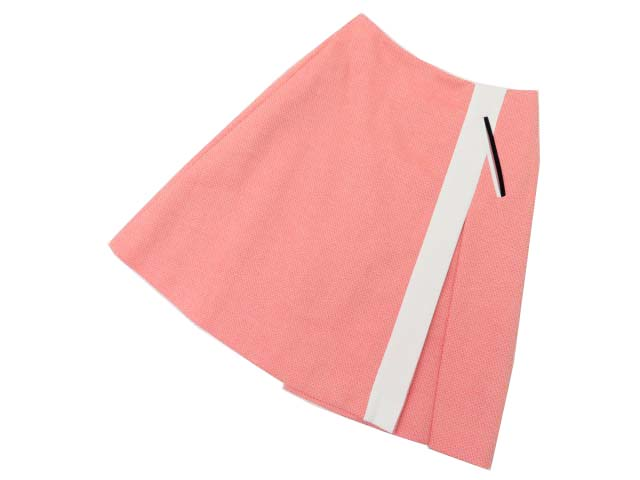 ADEAM Coral Short Pleated Skirt 35441 コーラル系 4 S2【中古】