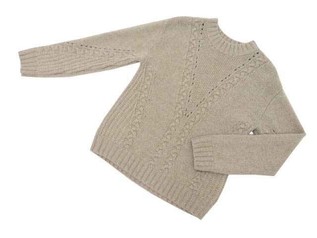 FOXEY BOUTIQUE 38828 Knit Top シナモン 38 A1【中古】