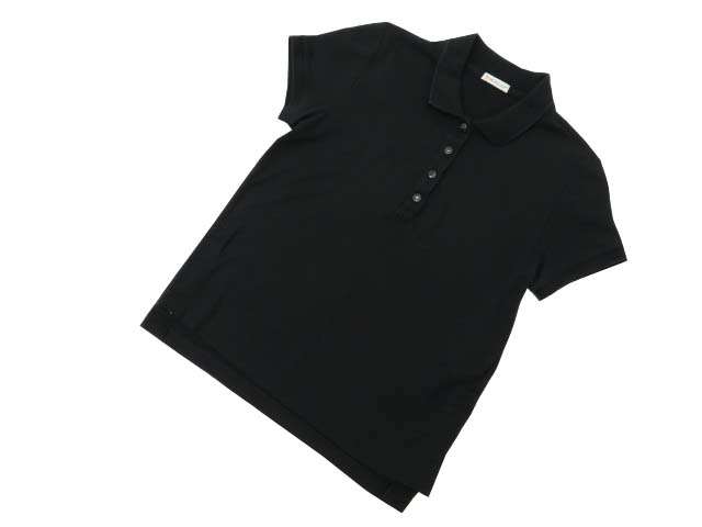 MONCLER ポロシャツ ブラック XS A1【中古】