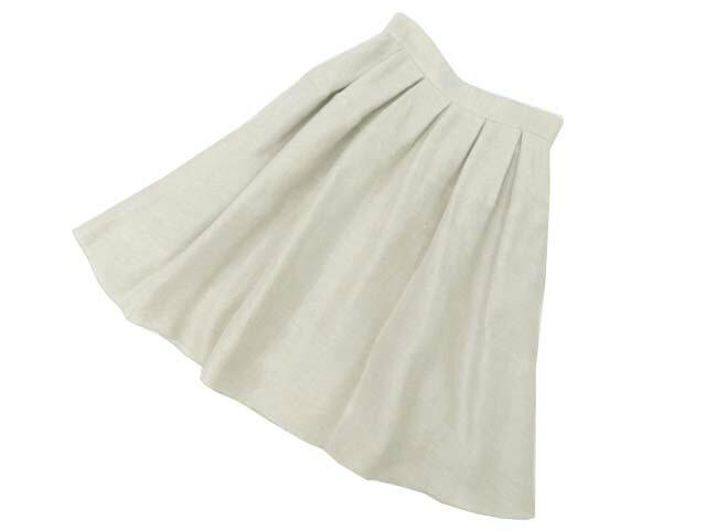 FOXEY BOUTIQUE 37622 Skirt ライトナチュラル 40 S2【中古】