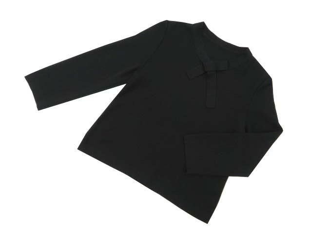FOXEY BOUTIQUE 36838 Bow-Tie Knit Top ブラックブラック 40 A1【中古】