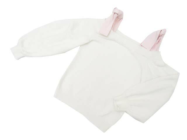 ADEAM 39997 Denim Tie Sweater ホワイト 0 A1美品【中古】