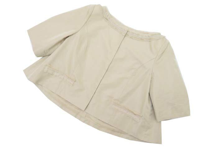 FOXEY BOUTIQUE 37236 Jacket(Little Black Cockail) オイスターベージュ 42 S1【中古】