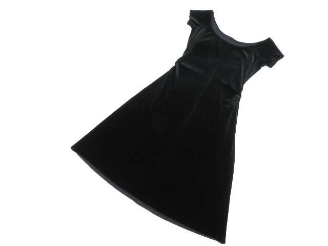 Daisy Velour by FOXEY NEW YORK 37828 Dress ベルベットブラック 40 A1【中古】