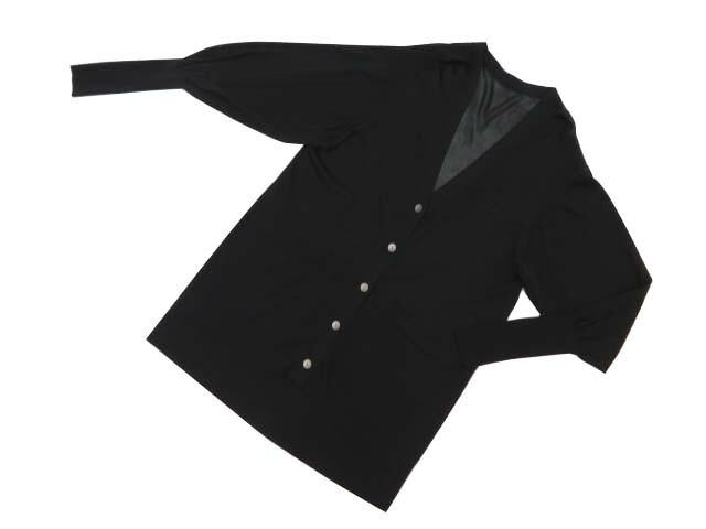 FOXEY BOUTIQUE 39665 Long Cardigan ブラックブラック 40 S1【中古】
