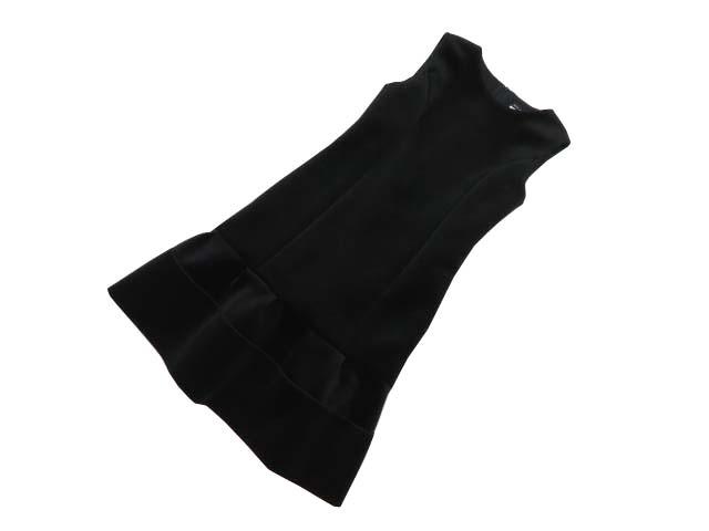 Rene basic Velour Dress ブラック 36 S1【中古】