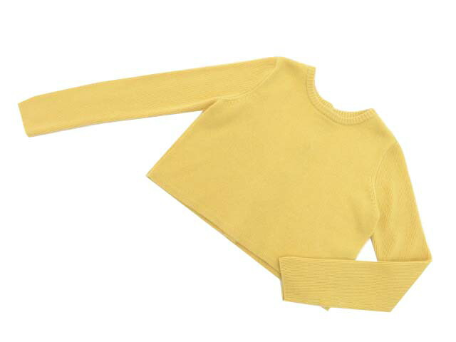 FOXEY BOUTIQUE 40348 Sweater(F.B.Button) ソフトイエロー 42 S1【中古】