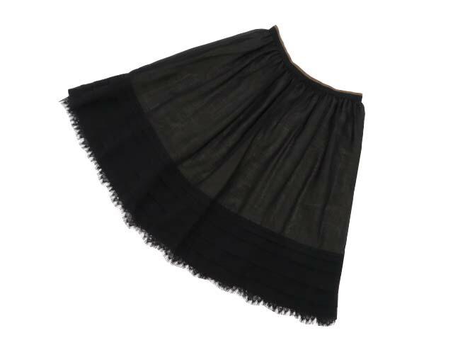 FOXEY BOUTIQUE 39897 Skirt(Lacey Flower Dress) ブラックブラック 40 A1美品【中古】