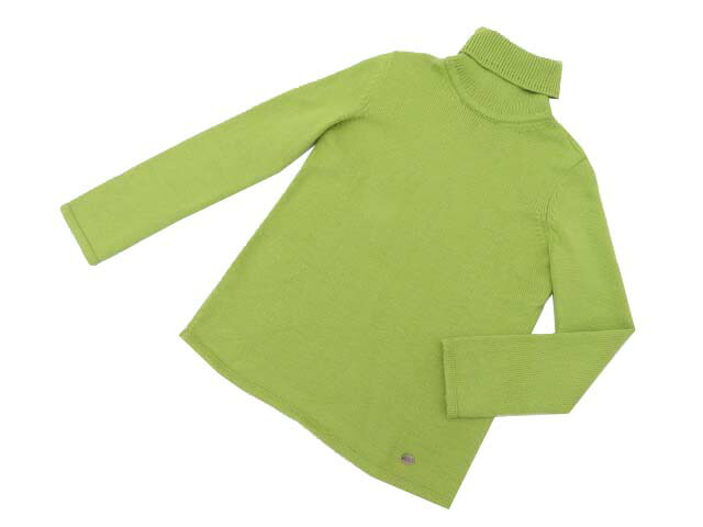 DAISY LIN 06070 Knit Top(Angel Hair High Neck) Lime 38 A1【中古】