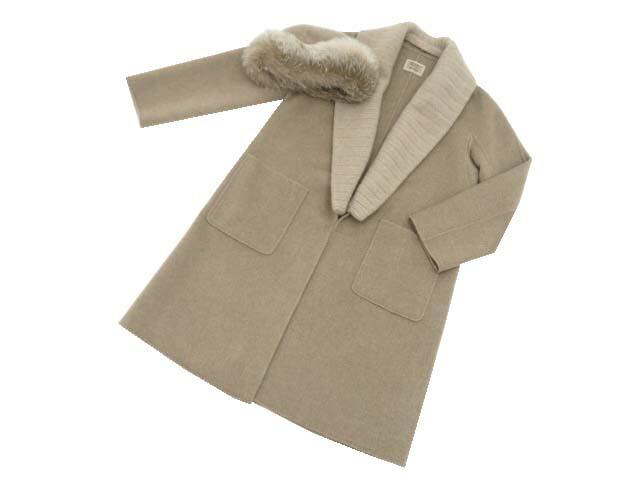 FOXEY BOUTIQUE 39971 Coat(Lady Cappuccino) ナチュラル 40 S1【中古】
