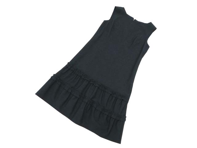 Rene basic Denim Dress(Tiered Hem) ミッドナイトネイビー 36 A1【中古】