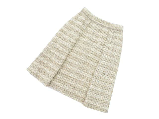 FOXEY BOUTIQUE 40735 Skirt(Jewel Crunch) ベージュ 38 S2【中古】