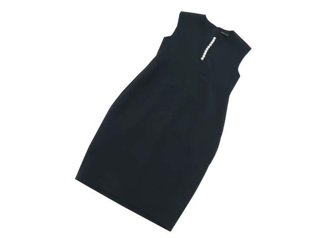 YOKOCHAN Pearl Dress ダークネイビー 38 A1n0OXw8kP