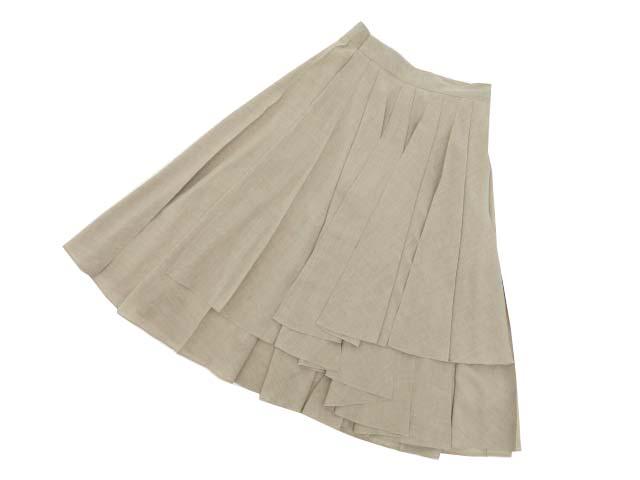 DAISY LIN 06214 Skirt(Washable European Pleats) ハンプトンベージュ 40 S1【中古】