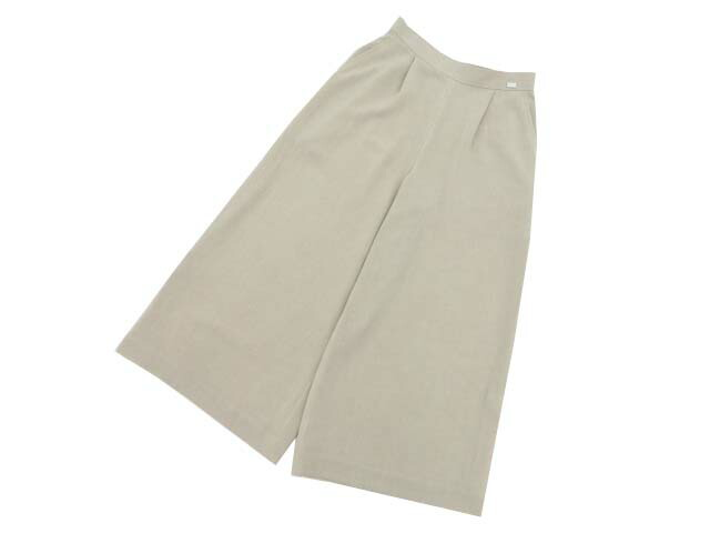 FOXEY BOUTIQUE 40734 Washable Wide Pants ナチュラル 40 S1【中古】