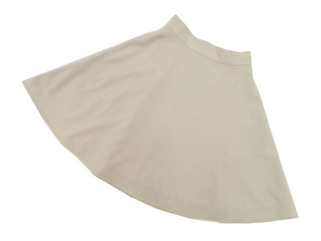FOXEY BOUTIQUE 36777 HighWested A‐line Skirt オイスターベージュ 40 A1美品【中古】
