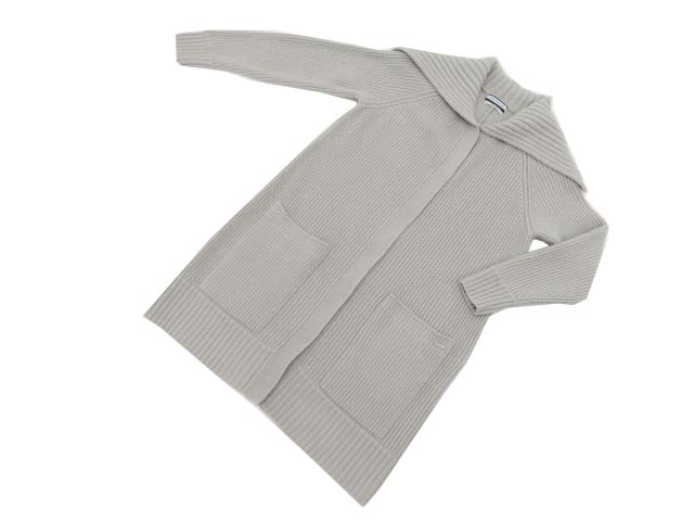 FOXEY NEW YORK COLLECTION 40010 Knit Coat グレー F S2【中古】