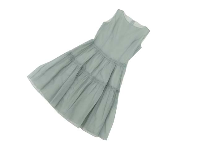 FOXEY BOUTIQUE 37173 Dress(French cheer) スモーキーブルー 38 A1【中古】