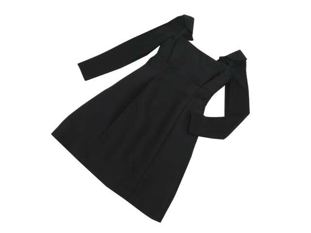 FOXEY BOUTIQUE 37076 Dress(Tulip Ruffle) ブラックブラック 38 A1美品【中古】
