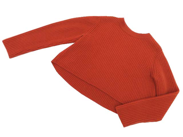 FOXEY BOUTIQUE 37519 Knit Top(French Sucre) レンガ 38 A1【中古】