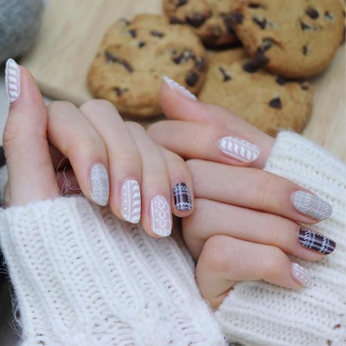 GLOSSYBLOSSOM ジェルネイルシール knit_coffee gb45480