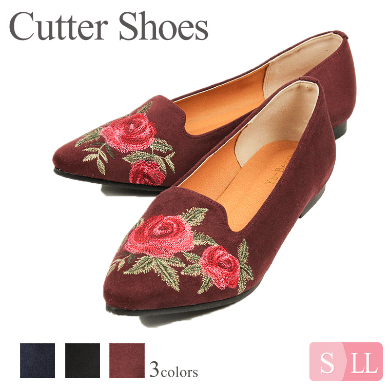 0674fca1c167 The pointed toe embroidery cutter shoes which Yu-Becck (you BIC) sends!