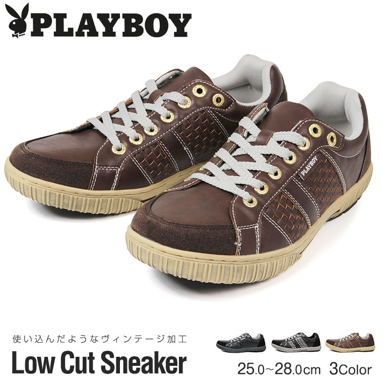 5ab21088ba2 PLAYBOY playboy light weight sneakers men low-frequency cut sneakers men  casual shoes attending school shoes shoes race up gentleman fake leather ...