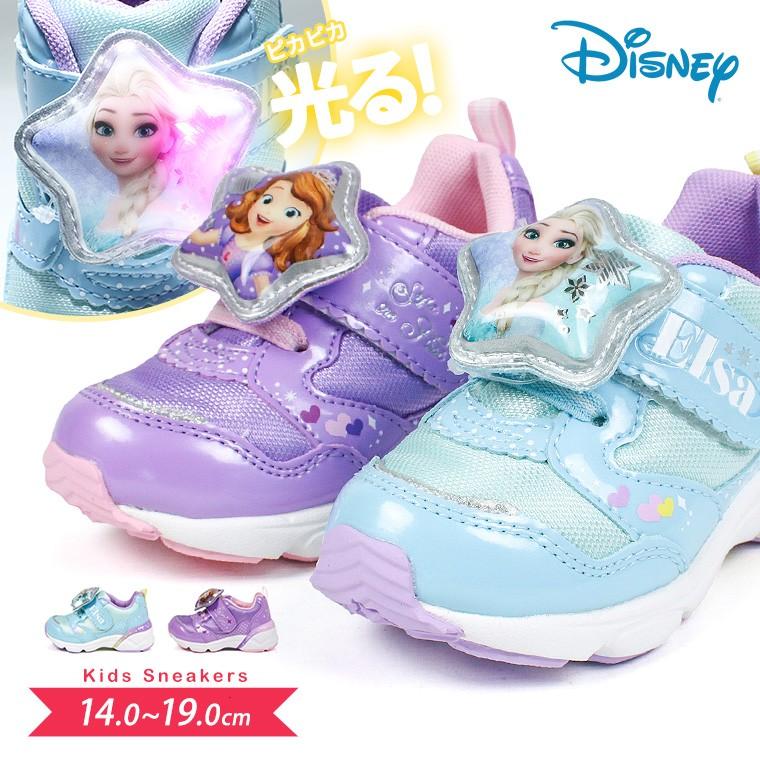 7f75da25e80ff 楽天市場  送料無料 DISNEY 軽量 光る靴 ディズニー プリンセス 子供 ...