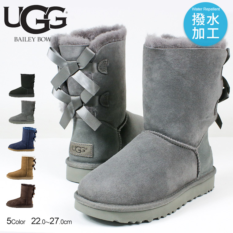 4a651cfe555 UGG mouton boots Lady's UGG BAILEY BOW genuine leather スエードシープスキンアグベイリーボウ 2  drumstick flood control impurity ...