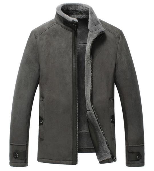 新品 セレブレザー 本革 毛皮 羊皮 ラムリアルムートンジャケットJKTライダース ファー ボア M-4XL  ブラック 黒 グレー キャメル メンズ