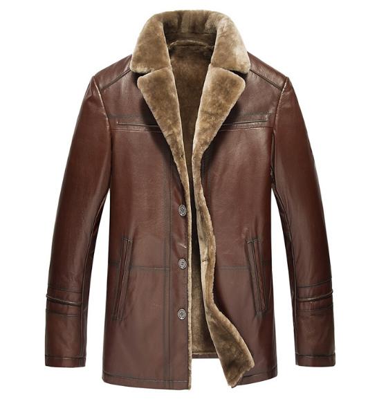 セレブレザー メンズ 本革 ムートンファーボア羊皮羊毛ウールラムレザーコートジャケット JKT 革ジャンcf-522841633823L-4XL