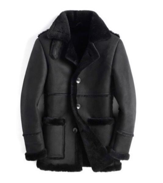 新品 セレブレザー 本革  リアルムートン毛皮 羊皮ラムレザージャケットコート 羊毛ファー ボア JKT 茶 ブラウン ブラック 黒 M-4XL メンズ
