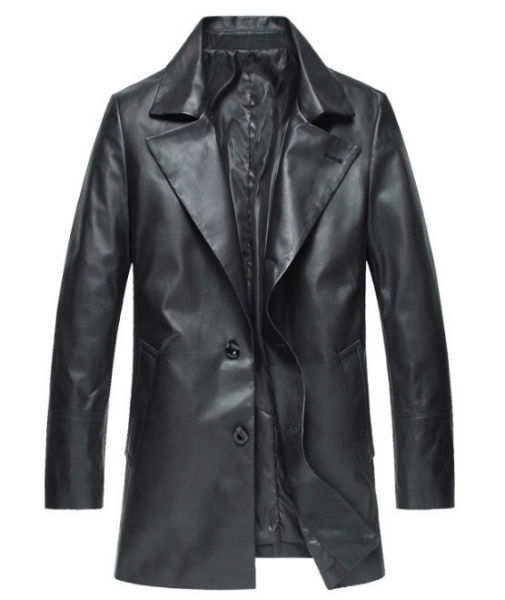 新品 セレブレザー 本革 牛皮 トレンチコートジャケット M-4XL  ブラック カーキ 黒色 メンズ M L XL 2XL 3XL 4XL 5XL スーツ ビジネス