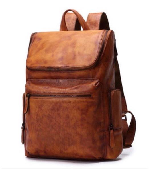 新品 セレブレザー メンズ 本革リュック 牛革 カウレザー シンプルリュックサックバッグ 鞄 カジュアル ユニセックス 2色カラー レディース 男性 ブラック ブラウン 黒茶