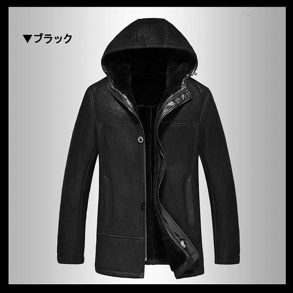 celebleather シープスキン メンズレザー ジャケット フード付きジャケット コート 紳士  cf-F-LN-8608 ブラック グレイ