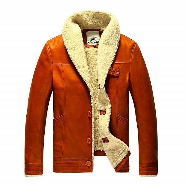 celebleather 羊皮 カモフラージュ メンズ フリース ジャケット レザー 羊皮 羊毛 cf-lc605 ブラウン
