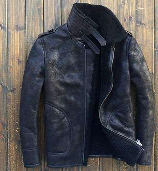 【羊皮革 ジャケット】セレブレザー メンズ コート j021