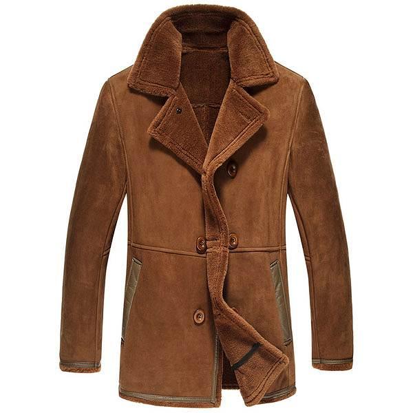 セレブレザー メンズ 本革 ムートンファーボア羊皮羊毛ウールラムレザーコートジャケット JKT 革ジャンcf-522887049810