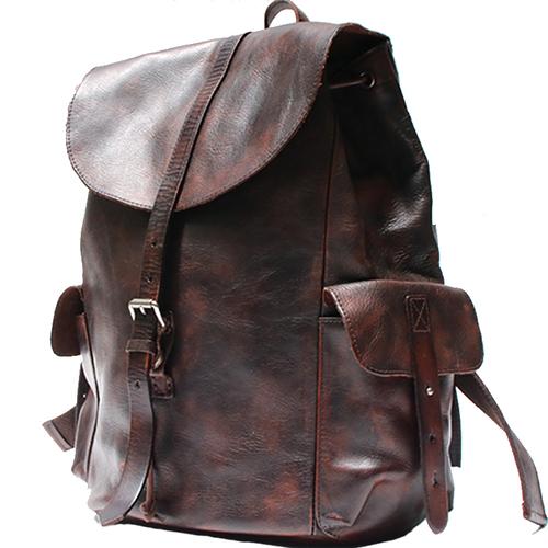 Color : Grey, Size : L FYH Men Essential Upmarket Retro Large Capacity Oil Wax Canvas Handcarry Bag Business Satchel Multicolor Handbag