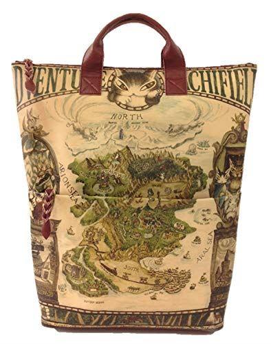 WACHIFIELD [わちふぃーるど] ダヤン 本革 レザーアート リュック 羊皮紙の地図・ワイン