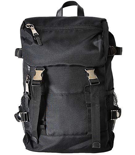 [VIVA-ILL] 大容量 フラップ バックパック メンズ ビジネスバッグ リュック バッグ ビジネス 黒 ブラック デイバッグ