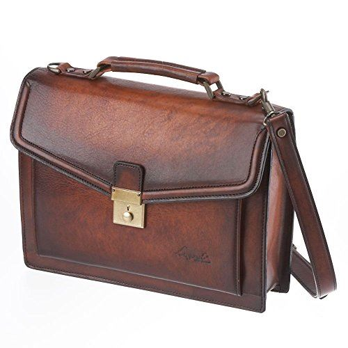 LuggageAOKI 青木鞄 Lugard G3 ラガード ジースリー 2way フラップ ブリーフケース ショルダーバッグ 日本製 本革 ブラウン 5218-50