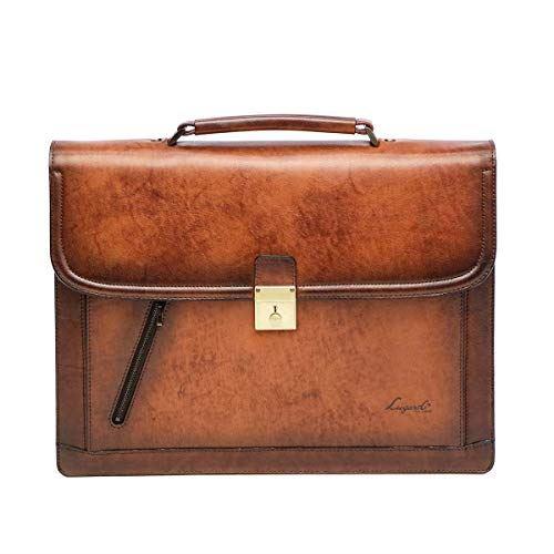 LuggageAOKI 青木鞄 Lugard G3 ラガード ジースリー フラップ ブリーフケース 日本製 本革 ブラウン 5223-50