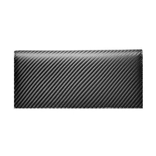 LANZA (ランザ) 長財布 カーボンレザー [ ブラック ] 二つ折り 財布 イタリア製