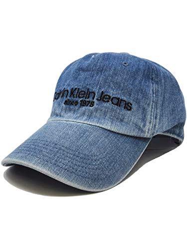 [Calvin Klein(カルバンクライン)] カルバンクライン メンズ キャップ 帽子 デニム ロゴ [インディゴブルー] [並行輸入品]