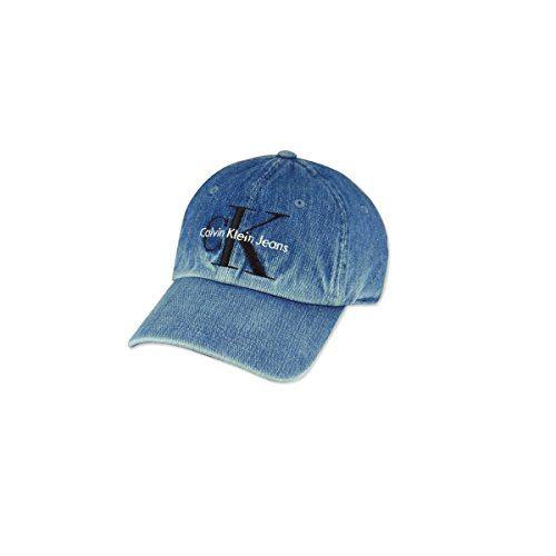 (カルバンクライン)Calvin Klein LOGO CAP DENIM ロゴ キャップ デニム 15042 (約58cm(ボタンアジャスタ―付), DENIM) [並行輸入品]