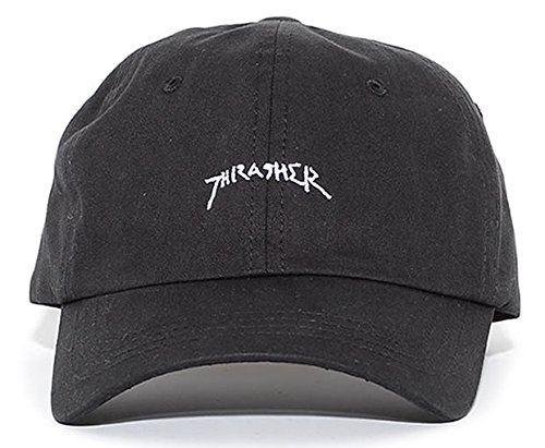 スラッシャー THRASHER ローキャップ 帽子 アジャスターバック 手書きロゴ (16TH-C26) F Black