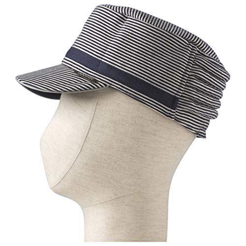 特殊衣料 保護帽 abonet+JARI キャップストライプ No.2084 フリー ネイビー
