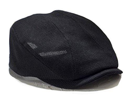 井上帽子オールメッシュハンチング ブラック