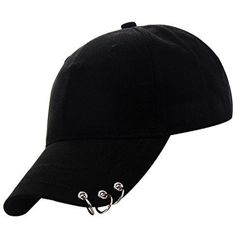 Q-sai 3連リング ピアスキャップ 感謝価格 フリーサイズ55-60cm サイズ調整可能 メンズ レディース 男女兼用 SJB 推奨 ベーシック ワーク 韓国キャップ キャップ 帽子
